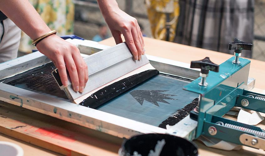 Шелкография нанесение краски